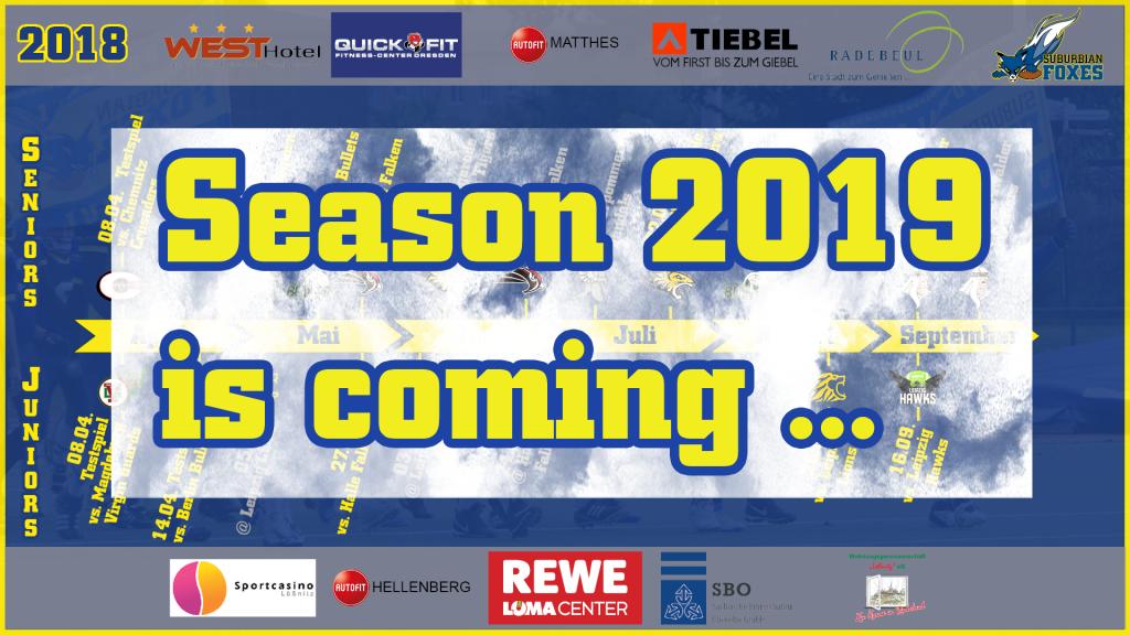 Season 2019 is coming