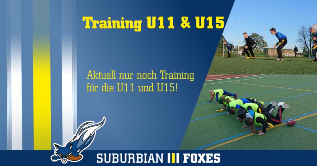 Training Mai 2021 aktuell nur für U11 und U15
